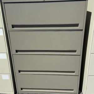 BUSINESS COMMERCIAL EQUIPMENT 4 Drawer Dark Tan Lateral Lift Door Filing Cabinet filing cabinet