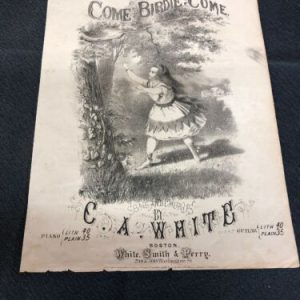 MUSICAL INSTRUMENTS Come Birdie Come J Frank Perry 1871 Antique Vintage Sheet Music [tag]