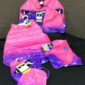 PETS Top Paw Pink & Purple Ombre Puffer Jacket for Dogs~ Choice of XS, S, L, XL~ NEW!