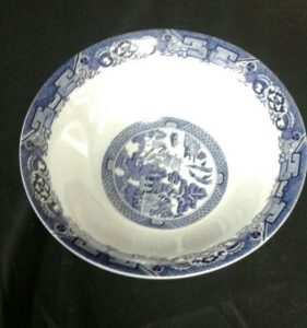 """Tableware Royal Cuthbertson BLUE WILLOW 91/8""""  Round Vegetable SERVING BOWL"""