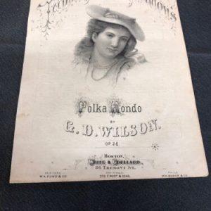 MUSICAL INSTRUMENTS Tripping Thro the Meadows Polka Rondo 1878 Antique Sheet Music