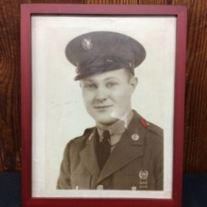 PHOTOGRAPHS Framed Black and White Picture of Soldier Kenny