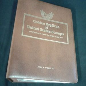 COINS, COIN SETS & STAMPS Golden Replicas of United States Stamps 22KT Gold Plated 9 Stamps1990-1991