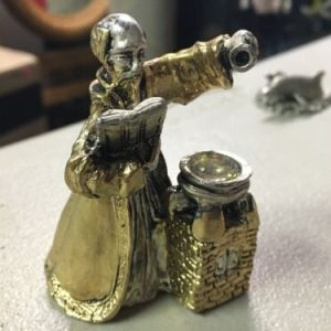 Pewter Pewter (Gold And Silver Colorations) Wizard Figurine