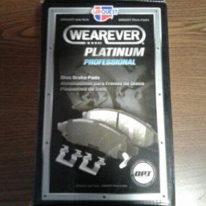 AUTOMOBILE PARTS & ACCESORRIES PMD833H Carquest Wearever  Platinum Professional  Disc Brake Pads W/ Hardware