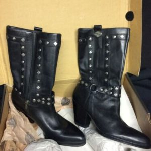 "HARLEY DAVIDSON Harley Davidson Strut Boot w/ BOX – Size 7.5 Medium 9"" boot #81809"