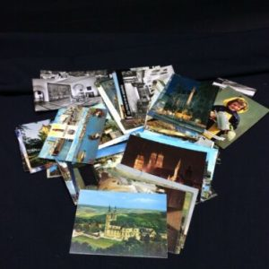 Memorabilia Lot of 75 Postcards GERMANY 1960's Unsent-B&W and Color [tag]