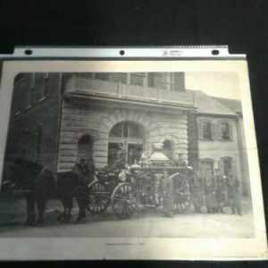 PHOTOGRAPHS Old Vintage Black & White Photo of Cumberland Fire Co, 1901