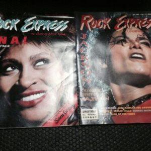 Magazines ROCK EXPRESS JACKSON OCT./NOV. VOL.12 JAPAN & VOL 11 Tina Turner NOV/DEC [tag]