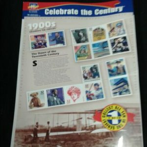 COINS, COIN SETS & STAMPS US STAMPS  CELEBRATE THE CENTURY 1900'S MINT SHEET SEALED NIP