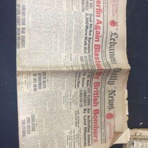 Historical Documents Lebanon Daily News January 18, 1943