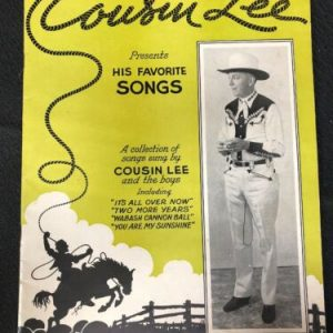 "MUSICAL INSTRUMENTS Southern Music Publishing Co. – Cousin Lee ""His Favorite Songs"" Sheet Music [tag]"