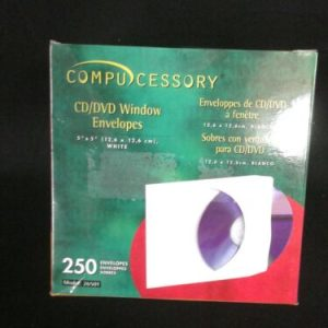 "Other Compucessory CD/DVD Window Envelopes 5""x5"" 250/BX White 26501 [tag]"