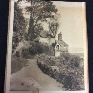 PHOTOGRAPHS Black & White Photo of Farm House