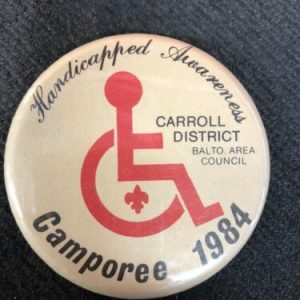 Boy Scouts Boy Scout Handicapped Awarness Pin – Carroll Disctrict, Baltimore MD