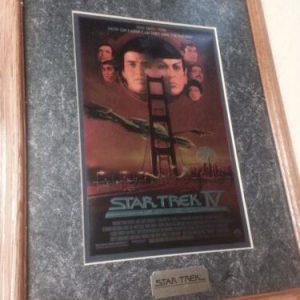 Star Trek Star Trek IV THE VOYAGE HOME Chromium Special Collectors Edition Print With Fram