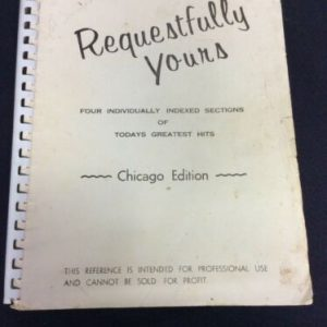 MUSICAL INSTRUMENTS Requestfully Yours Sheet Music, Chicago Edition