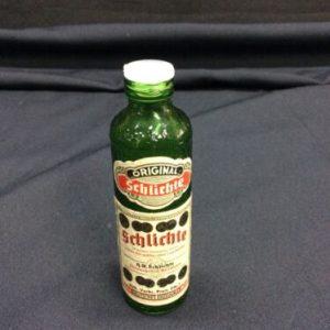 Glass Bottles Vintage German Schlichte Ofterling Ges Gesh Marked Liquor Bottle-Empty