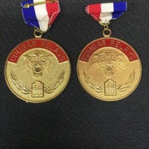 Track & Field Gold Cougar Relay Medal [tag]