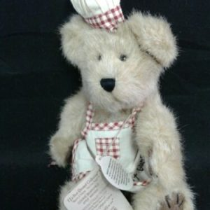 """Boyds Bear Boyds Plush #903009 COOKIE BEARCHILD, 8""""  NEW/Tag Jointed Bear w/ Apron """"Bakers."""