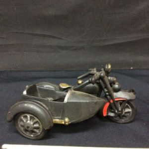 Die Cast & Cast Iron Cast Iron Motorcycle with Sidecar