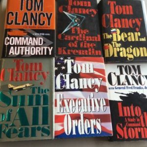 BOOKS Lot Of 6 TOM CLANCY HARDCOVER