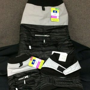 PETS Top Paw Fleece Lined Dog Coat~ Black/Gray~ Choice of XS, S, or L~ NEW With Tags