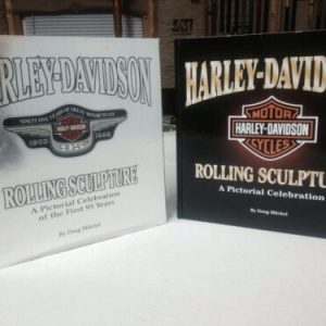 BOOKS HARLEY DAVIDSON ROLLING SCULPTURE -SET OF 2 (1998) and (2005) by Doug Mitchell