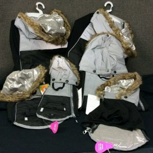 PETS Top Paw Reflective Hooded Winter Coat ~Black~ Choice XS, S, M, L, XL, XXL ~ NEW!