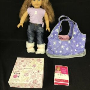 DOLLS American Girl Doll With Clothes, Tote, Shoes, Earrings And Hair Care Kit [tag]
