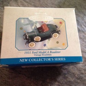 Hallmark Hallmark 1998 1931 FORD MODEL A ROADSTER Series + Box FREE US Shipping [tag]