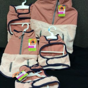 PETS Top Paw Two Tone Pink Reflective Coat for Dogs~ Choose Sz XS, S, M, L, XL~ NEW!