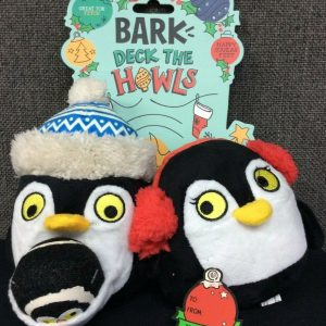 PETS BARK Deck the Howls Christmas Penguin Dog Toy~ 3 In 1 Set~ NEW With Tags!