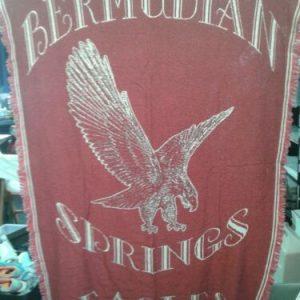 """Home Goods Bermudian Springs High School Eagles Afghan,  Bermudian Springs PA  44 x 62"""""""