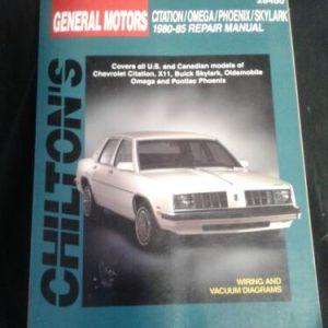 AUTOMOBILE PARTS & ACCESORRIES Chiltons General Motors citation/ omega /phoenix/ skylark 1980 -85 repair manual [tag]