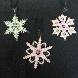 Ornaments Carlton Cards Heirloom Delicate Snowflake Trio