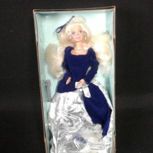 DOLLS An Avon Exclusive Winter Velvet Barbie blonde/blue 1995 NRFB First In Series