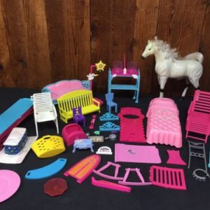 DOLLS Huge Lot of Barbies + Furniture Also Horse [tag]