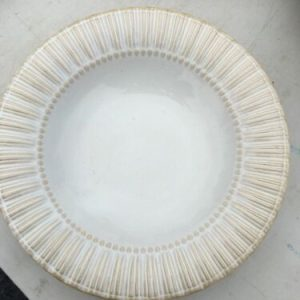 Tableware Bombay Dinnerware Ivory Color with Ribbed Rim Soup Bowl BMA 13 [tag]