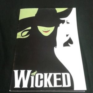 MUSICAL INSTRUMENTS WICKED THE MUSICAL SOUVENIR PROGRAM [tag]