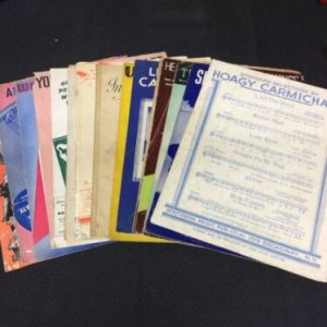 MUSICAL INSTRUMENTS Lot of 17 Vintage Piano Sheet Music Books