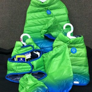 PETS Top Paw Blue & Green Ombre Puffer Jacket for Dogs~ Choice of XS, S, or L~ NEW!