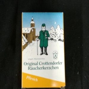 Fragrance/Perfume Original Crottendorfer Raucherkerzchen Incense  20 Piece New  Pfirsich   Germany [tag]