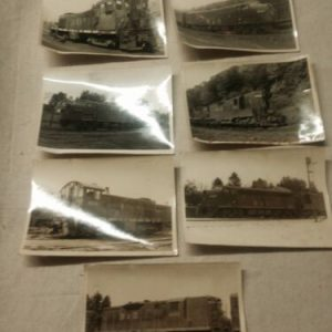 PHOTOGRAPHS 7 Black and White B & O Railroad Train Pictures from 1973