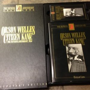 VHS ORSON WELLES CITIZEN KANE 50TH ANNIVERSARY LIMITED EDITION BOX SET VHS BOOK 8X10 [tag]