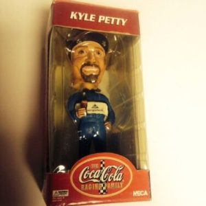 "Racing Coca-Cola ""The Racing Family"" Bobble Heads – Kyle Petty #45 [tag]"