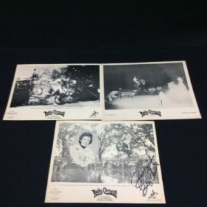 PHOTOGRAPHS Lot of 3 Bobby Clements B & W photo handouts, one is signed, Thrills Unlimited,