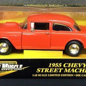 Die Cast & Cast Iron American Muscle 1955 Chevy Street Machine Die Cast 1:18 Scale ERTL~ NEW!