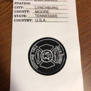 JACK DANIELS Jack Daniel's Fire Brigade Patch – Lynchburg, Tennessee – FREE SHIPPING!!! [tag]