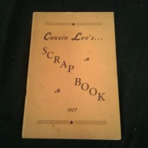 MUSICAL INSTRUMENTS Vintage 1937 — Cousin Lee's Scrapbook — Radio Personality   Songs/Poems
